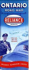 1955 Reliance Road Map: Ontario NOS
