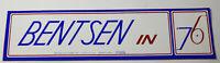 1970s Vintage Bentsen Americana Campaign Political Decal Bumper Sticker