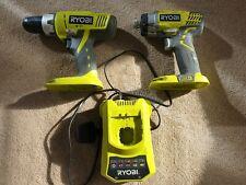 Ryobi Power Tool Set impact driver combi drill charger