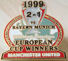 MANCHESTER UNITED v BAYERN  Victory Pins 1999 EUROPEAN CUP Badge Danbury Mint