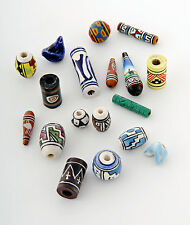 Tumi Peruvian ceramic beads clay beads hand painted mix x 50 fair trade Peru