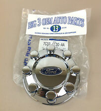 08-10 Genuine Ford F250 F350 Super Duty REAR Chrome 8-LUG WHEEL Hub Cap New OEM