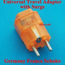 UK USA Euro AU to Germany France South Korea Travel Adaptor AC Power Plug Surge