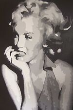 Marilyn Monroe 40x28 Oil Painting not a print Framing Available.Some like it hot