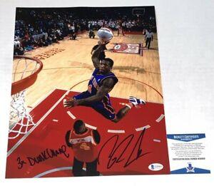 Nate Robinson signed New York Knicks W/ Dunk Champ 11x14 photo Beckett Witnessed