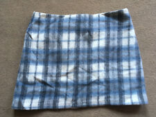 BNWT M&S Collection Blue Grey Check Wool Blend Skirt Size 18