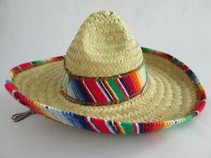 CHILD MEXICAN SOMBRERO COSTUME HAT SPANISH FIESTA CINCO DE MAYO FESTIVE SALSA