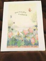 "KITTY'S NOTE CARDS - Set of 10 + Envelopes  ""Friendship Blessings"""