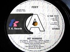 "FOXY - HOT NUMBERS  7"" VINYL PROMO"