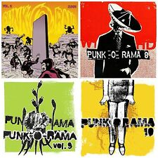 4 used PUNK-O-RAMA CD's LOT Refused,Rancid,NOFX,Bad Religion,Pennywise,Offspring
