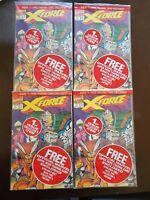 Lot of 4 High Grade X-Force #1 Sealed w/ Card 1st Print  Rob Liefeld