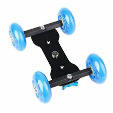 Camera Desktop DSLR Video Photograph Rail Rolling Track Slider Skater Dolly Car