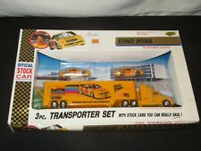 ROAD CHAMPS 1:64 NASCAR STOCK CAR ERNIE IRVAN KODAK CHEVY TRANSPORTER SET