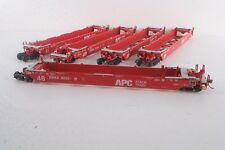 HO 48' Articulated 5 Unit APC Stack Train Well Car GBRX 3001