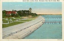 Mississippi, MS, Waveland, Near Bay St Louis, Beach Drive Looking North Postcard