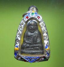 REAL RARE STATUE LP NGERN THAI MINI BUDDHA AMULET LUCKY MONEY