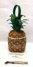 Kate Spade PXRU8938 By The Pool Leather 3D Pineapple Bag Clutch WOOD Brown NWT