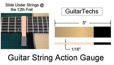 USA MADE GuitarTechs STRING and PICKUP HEIGHT GAUGE - two guitar tools in one
