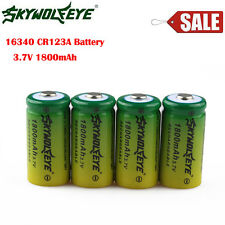 4Pcs CR123A 16340 3.6V 3.7V 1800mAh Rechargeable Battery for Flashlight Camera