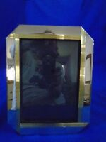 Vintage Silver and Gold Picture Frame 7x8.5""