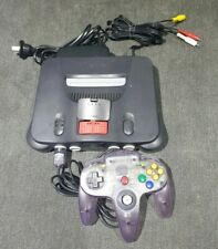 Nintendo 64 System with memory  expansion pack & purple clear controller