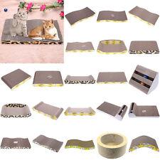 Corrugated Pet Cat Kitten Scratcher Claw Board Mat Bed Scratching Post Toy Fun