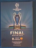 Juventus v Barcelona - UEFA Champions League Final 2015 Programme