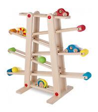 Eichhorn Rollbahn mit 6 Rollfiguren Holzspielzeug
