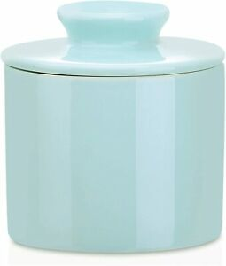 Lovecasa Porcelain French Butter Crock Keeper with Lid Kitchen Ceramic Container