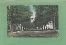Great View Looking Down HOLLISTER ST. In DUNDEE, NY On Vintage 1910 Postcard