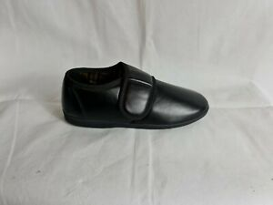 MENS GENTS HARD SOLE FAUX LEATHER EASY CLEAN GUSSET SLIPPERS SHOES SIZE VINYL