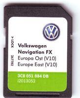 VOLKSWAGEN VW V10 2018 RNS310 MAP SD KARTE SKODA AMUNDSEN SEAT EAST EUROPA
