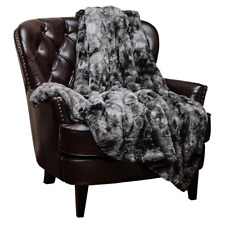 "Chanasya Super Soft, Faux Fur, Cozy Warm Fluffy, Twin 90 x 66"", Charcoal Gray"