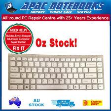Keyboard Sony VGN-FW White PN:148084521 Frame LAPTOP KEYBOARD #08