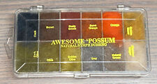 Brand New Wapsi Awesome Possum 12 Color Dubbing Dispenser Fly Tying Material