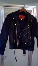 Classic Genuine Leather Chopper Style Motorcycle Jacket