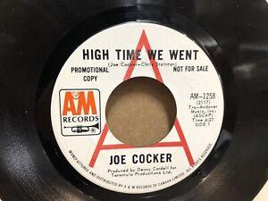 "Joe Cocker - High Time We Went/ Black- Eyed Blues 7"" Vinyl USA Promo A&M Records"