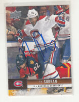 P.K. PK SUBBAN 2012-13 Upper Deck #92 Canadiens TTM IP Autographed Signed