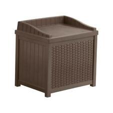22 gal. java resin wicker storage seat | box deck outdoor suncast patio gallon