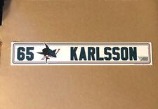 New listing 2018-19 Erik Karlsson San Jose Sharks Locker Room Nameplate Pro Stock Hockey