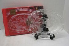 "MIKASA Holiday Lights Crystal Sweet Dish 9 1/4"" Angel Frosted Accent NEW in Box"