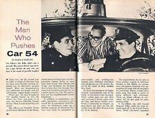 CAR 54 TV SERIES 1962 SCREENWRITER NAT HIKEN FEATURE + FRED GWYNNE & JOE E ROSS