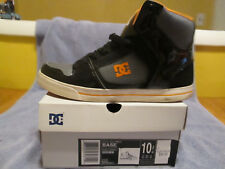 DC BASE BLACK ORANGE VINTAGE SKATE SHOES MENS SIZE 10