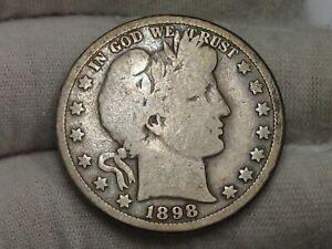 Better Date 1898-o Barber Half Dollar. #25