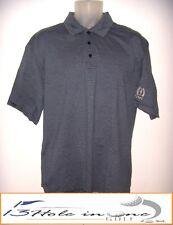 Tehama Men's Golf Shirt Short Sleeve Size L Blue/Striped Nice *TROPHY CLUB*