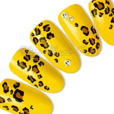 Nail Art Water Decals Transfers Stickers Wrap Animal Print Leopard Cheetah H038A