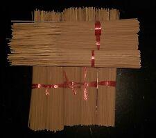 "8 Bundles UNSCENTED 11"" INCENSE STICKS Approx 775-800+ sticks Make your own"