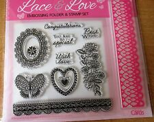 Lace & Love Embossing Folder & Stamp Set - BN