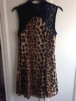Ruby Rocks Boutique Leopard Print And Black Lace Dress Size 8