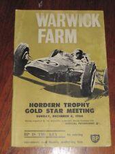 WARWICK FARM 1964 Tasman racing & sports car Program Mini Cooper Lotus FREE POST